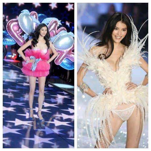 b7db41b41b He Sui   Ming Xi Rocking Victoria Secret Runway