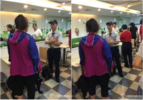 Chen is refused entrance at a local restaurant because of her guide dog Jenny.