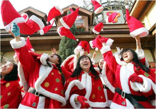 Celebrating Christmas in South Korea, via independent.ie.