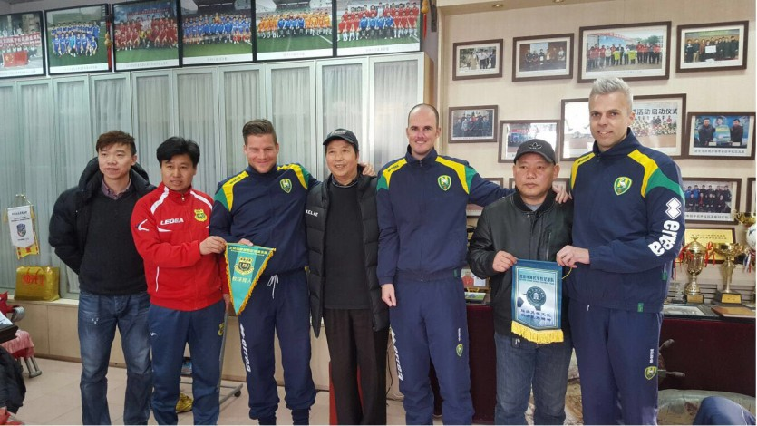 ADO trainers in China, via ADO Den Haag.