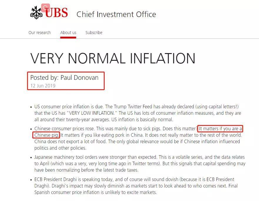 Lost in Translation? UBS's